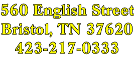 560 English Street Bristol, TN 37620 423-217-0333